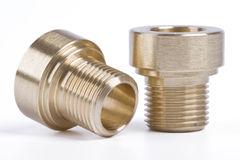 Threaded pipe fittings Stock Photography