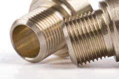 Threaded pipe fittings Royalty Free Stock Photos