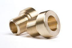 Threaded pipe fittings Royalty Free Stock Photo