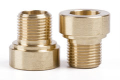 Threaded pipe fittings Royalty Free Stock Image