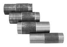 Threaded pipe unions Stock Photo