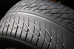 Threaded rubber tyres Stock Photography