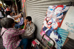 Threading in Chinatown Bangkok. Royalty Free Stock Images