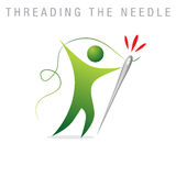 Threading The Needle Stock Photo