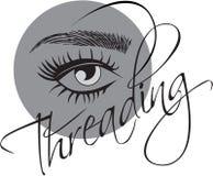 Threading Salon logo Royalty Free Stock Image