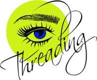 Threading salonu loga ilustracji