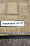 Threadneedle Street sign Royalty Free Stock Photos