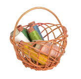 Threads. In a basket on a white background Stock Photo