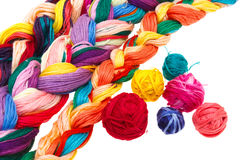 Threads. Colored thread on white background Royalty Free Stock Photos