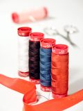 Threads. Tailor materials Royalty Free Stock Photography