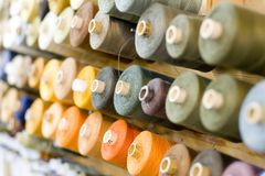 Threads. Many colored threads soft focused Royalty Free Stock Photo