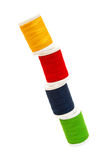 Threads. Colorful threads isolated on white background Royalty Free Stock Photos