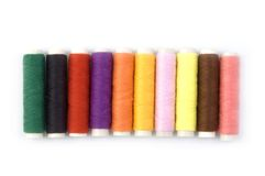 Threads. Row of Colorful threads Stock Image