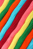 Threads. Diagonal group of vibrant and multicolored threads Stock Photo