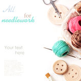 Threads And Buttons Stock Image