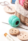 Threads and buttons Stock Images