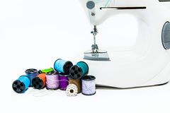 Threads and buttons ( close up shallow depth of field) Royalty Free Stock Photography