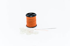 Threads and buttons ( close up shallow depth of field) Stock Images