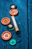 Threads and buttons Stock Photos
