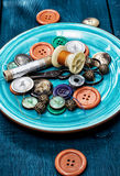 Threads and buttons Royalty Free Stock Photos