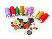 Threads and buttons. Royalty Free Stock Image