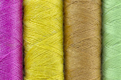 Threads  closeup. Sewing threads multicolored background closeup Stock Photography