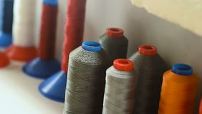 Threads are color. stock footage