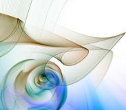 Threads and Colors Abstract. Flowing, twisting fibers and colors - fractal abstract background Stock Image