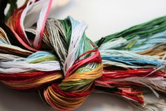 Threads for embroidery Stock Image