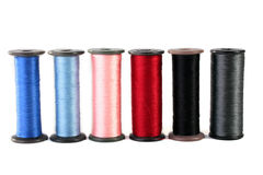 Threads for an embroidery Royalty Free Stock Photo