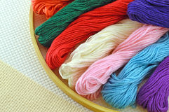 Threads for embroidery Royalty Free Stock Image