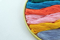 Threads for embroidery Royalty Free Stock Photography