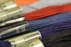 Threads for embroidery. Focus on pictogram Stock Photography
