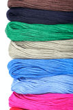 Threads for embroidery on a white background Stock Photography