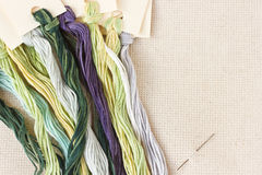 Threads on fabric Royalty Free Stock Photography