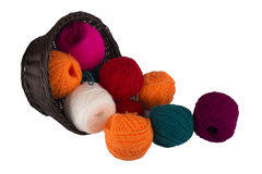 Threads for knitting Royalty Free Stock Photos