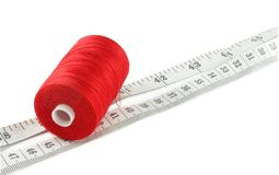 Threads with meter Royalty Free Stock Image