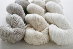 Threads of Natural Linen Stock Photos
