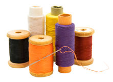 Threads and a needle Stock Image