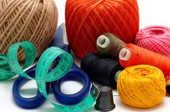 Threads and needle Royalty Free Stock Image
