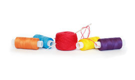 Threads And Needle Royalty Free Stock Photo