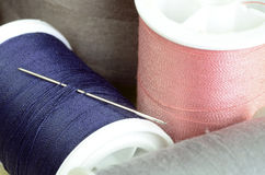 Threads and needles Stock Image