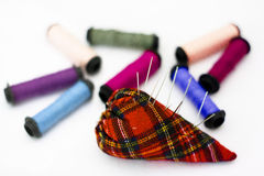 Threads and Needles Royalty Free Stock Images