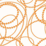 Threads of orange and blue beads Royalty Free Stock Photo