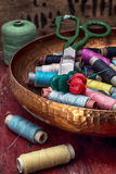 Threads and other tools dressmaker Royalty Free Stock Photo