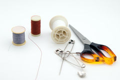 Threads, pin, needle Stock Photos