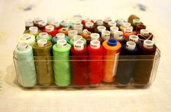 Threads Ready For Sewing in the open box Stock Photo