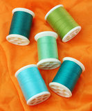 Threads set on fabric Royalty Free Stock Photography