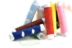 Threads for sewing Royalty Free Stock Photos