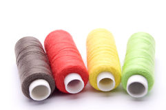 Threads for sewing on a white background Royalty Free Stock Images